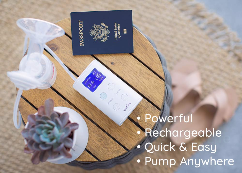 portable and rechargeable 9 plus breast pump