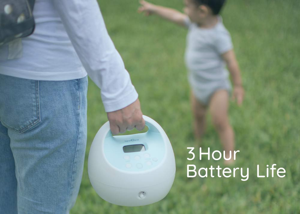 s1plus breast pump with a 3 hour battery