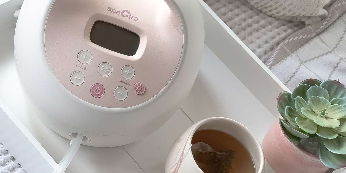 breast pump and tea