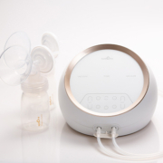 sg with two bottles a two flanges white breast pump