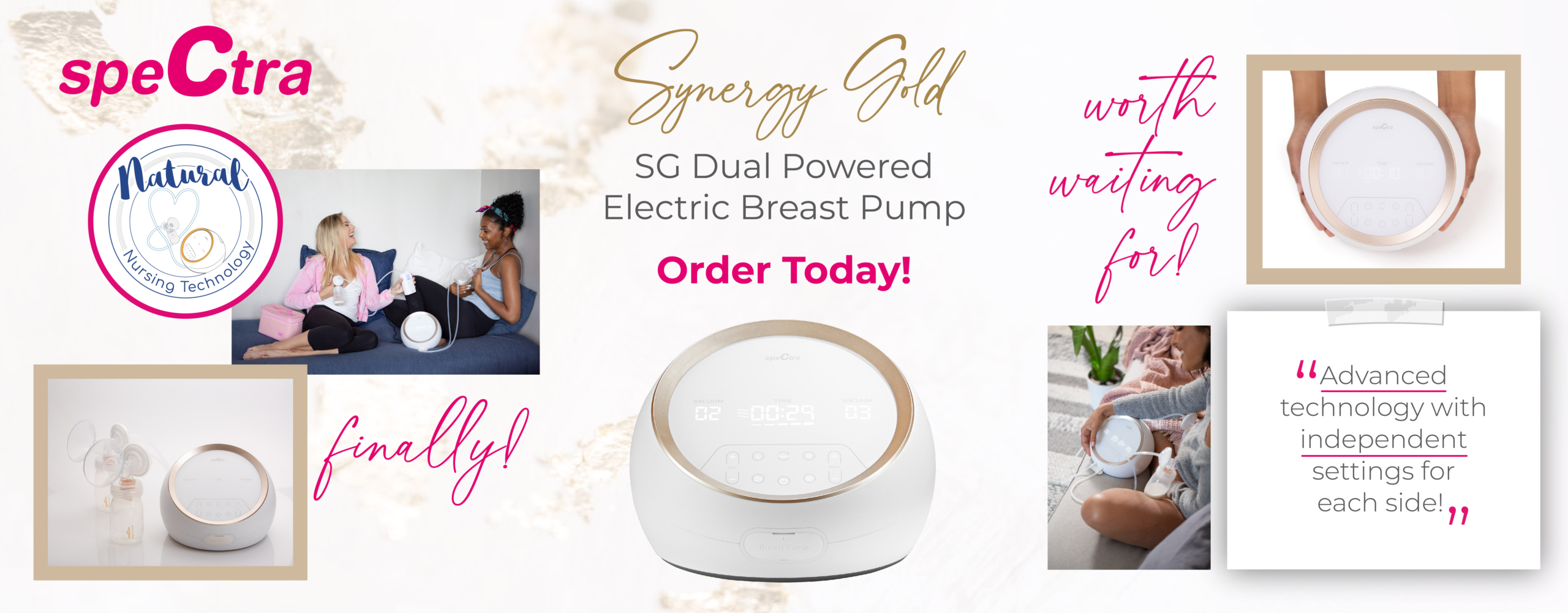 SG Synergy Gold Breast Pump Order Now Banner